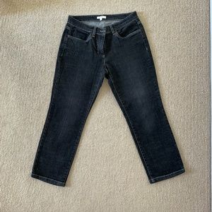 Eileen Fisher Faded Black Cropped Jeans